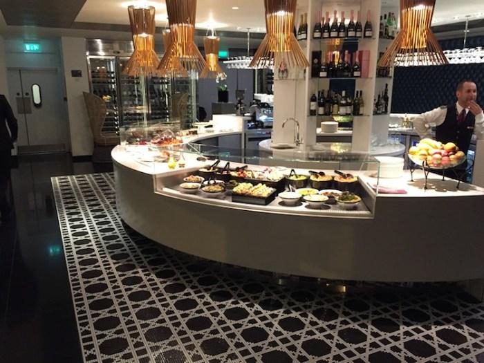 Qatar Airways Lounge London Heathrow Terminal Four Buffet