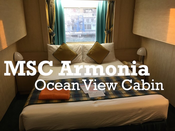 MSC Armonia Cabin YouTUbe Banner