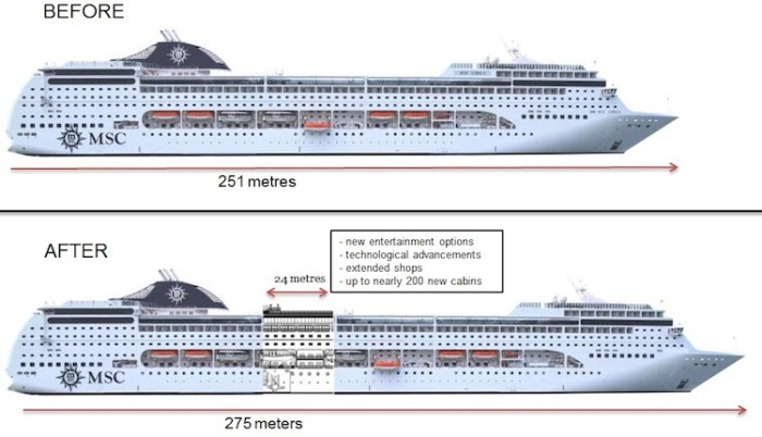 MSC Armonia Before and After