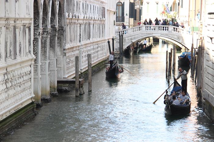 Gondolas Venice Canal