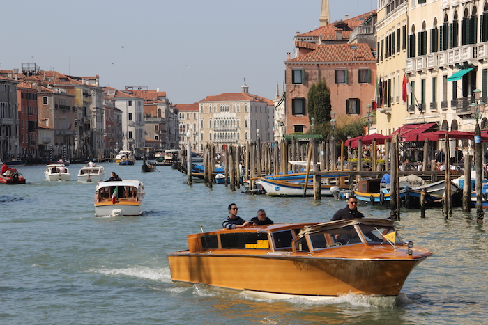 Water Taxis on Grand Canal Venice