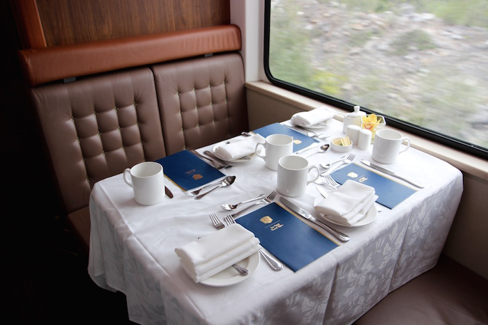 Rocky Mountaineer Train Gold Leaf Carriage Restaurant