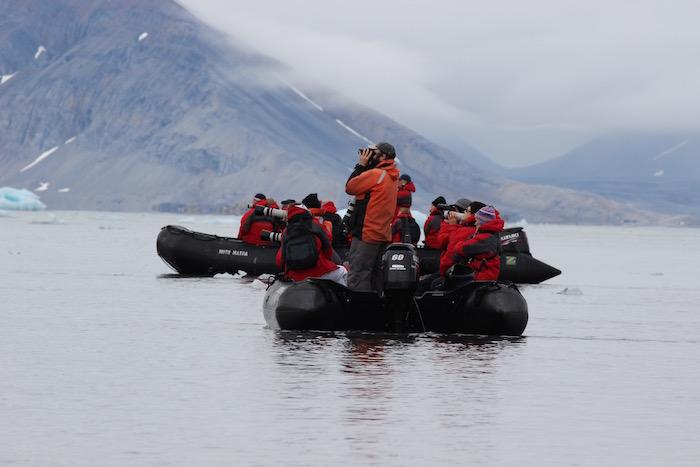 Silver Explorer Zodiacs Svalbard