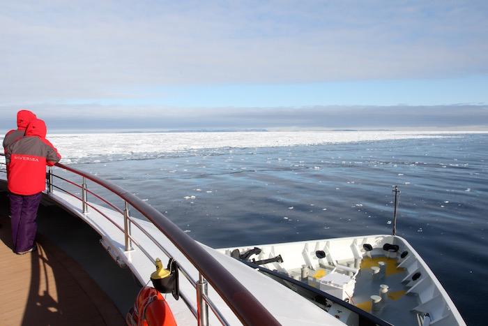 Silversea Silver Explorer along the Polar Ice Cap Edge