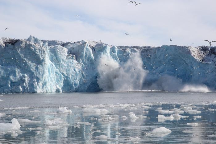Monacobreen Glacier Calving