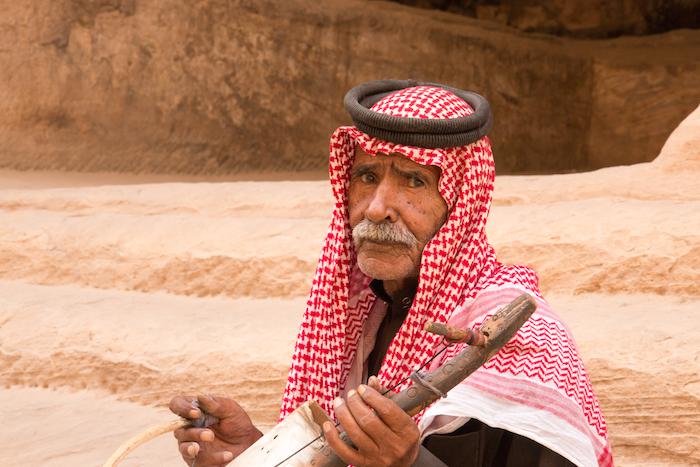 Old Bedouin musician Little Petra Jordan