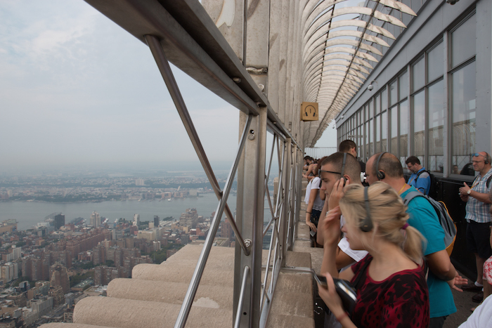 Viewing New York from Empire State Building