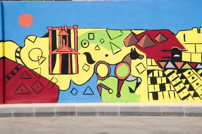 Graffiti in Ras El Ein in Amman