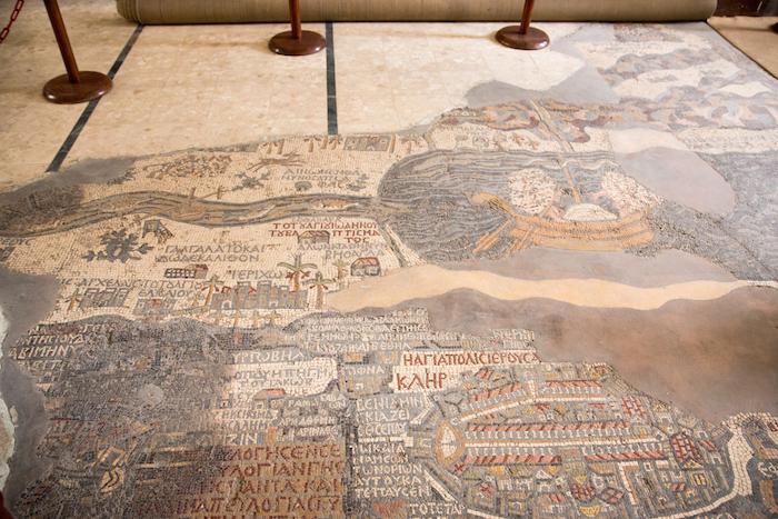 Madaba Map Jordan