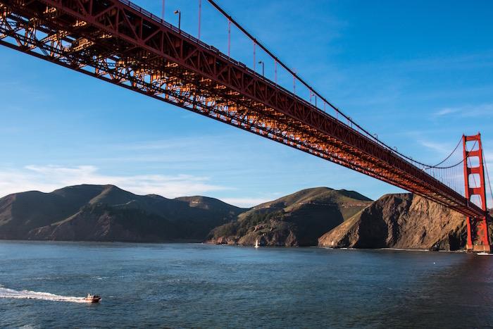 Golden Gate Bridge San Francisco taken from Queen Victoria