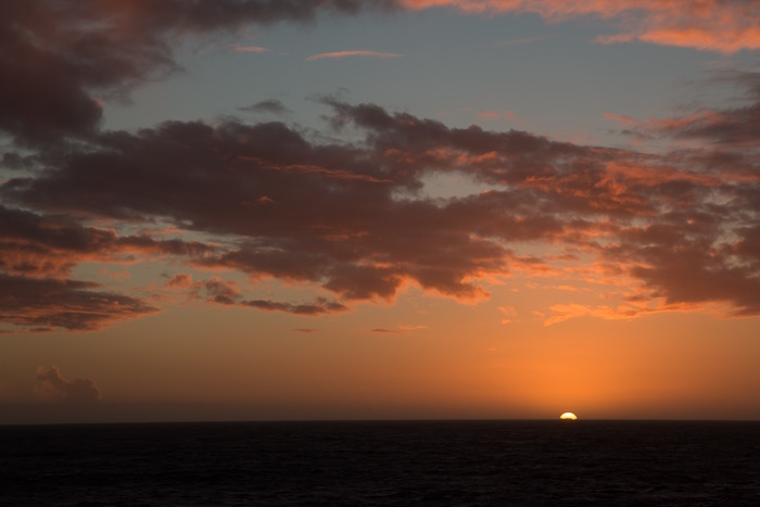 Sunset from Queen Victoria at sea