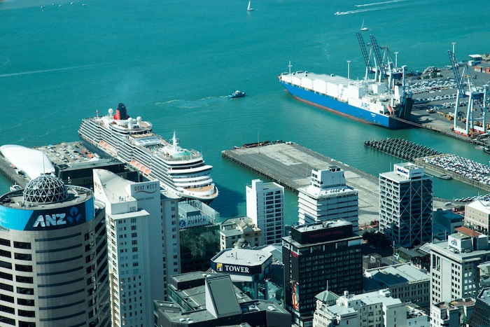Cunard Queen Victoria from SkyTower Auckland