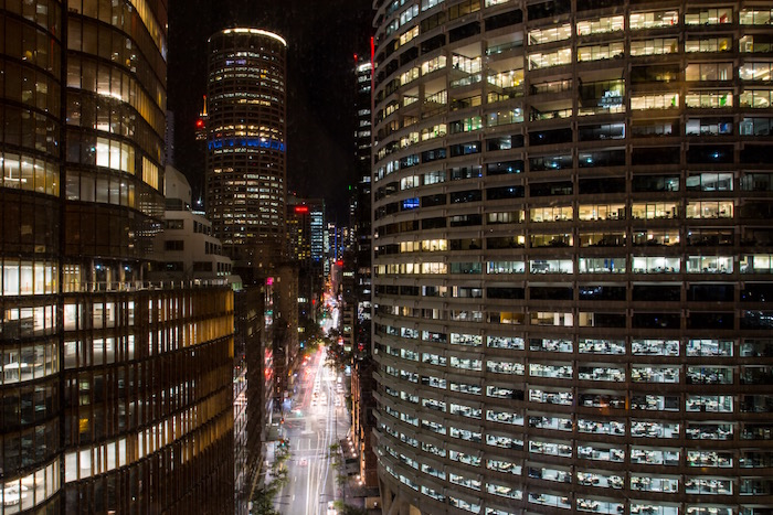 Sydney City View from Four Seasons at night