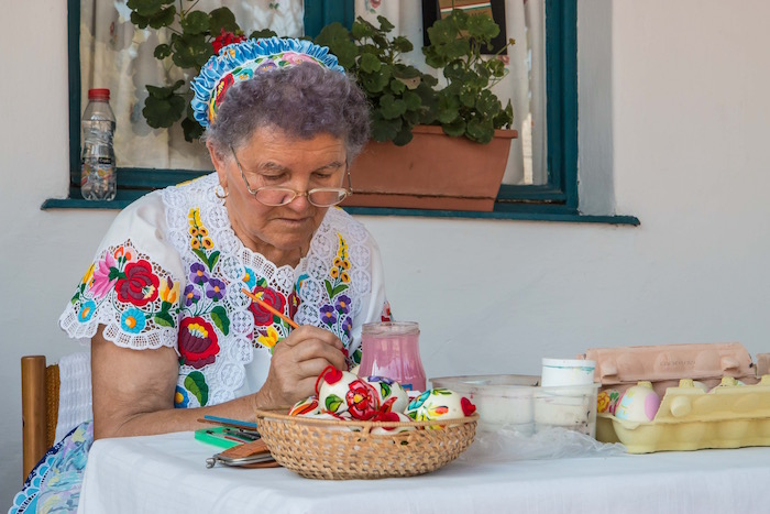 Egg Painter at the Folk House Kalocsa Hungary