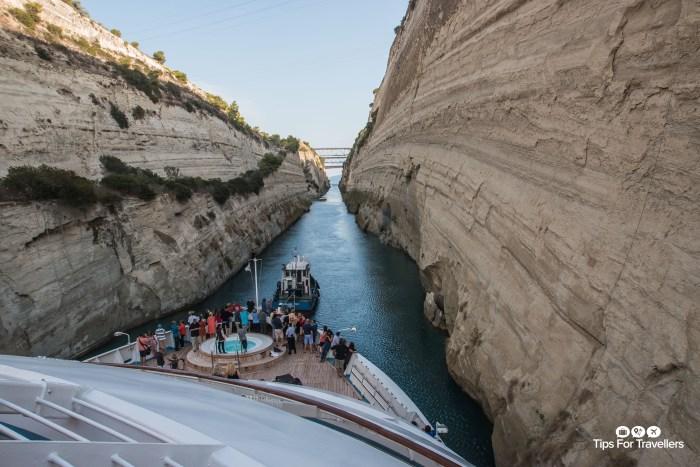 Windstar Star Breeze transiting Corinth Canal Greece