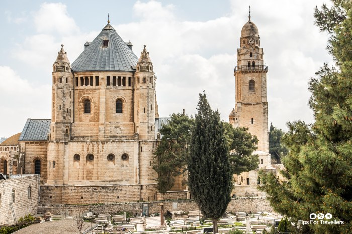 Dormition Abbey from South Ramparts Jerusalem