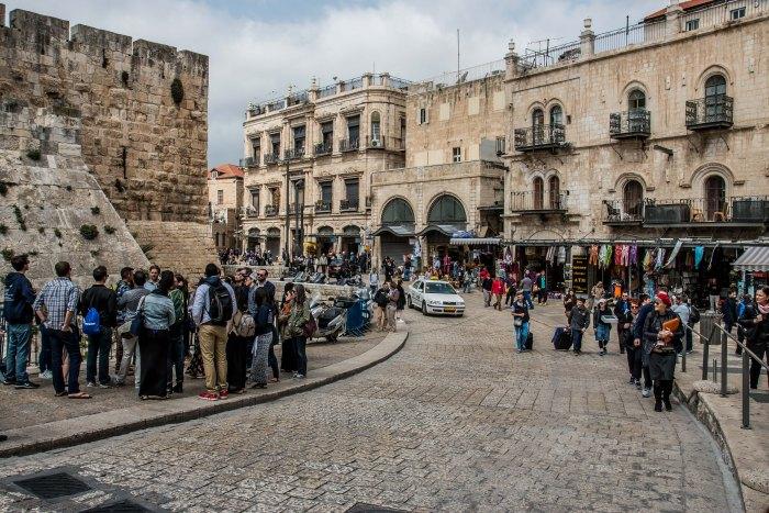 Old City near Jaffa Gate Jerusalem Israel-5