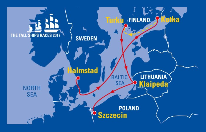 2017 tall ships races route