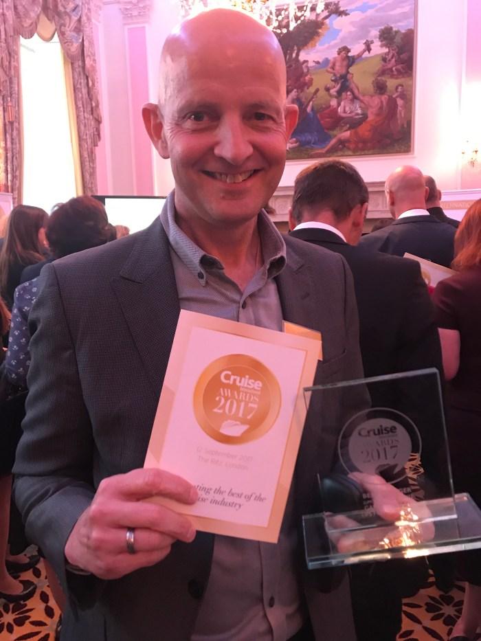Gary Bembridge Best Cruise Blogger Cruise International Awards https://www.tipsfortravellers.com/awards