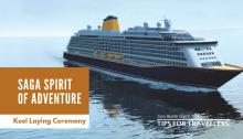 Saga Cruises Spirit of Adventure Keel Laying