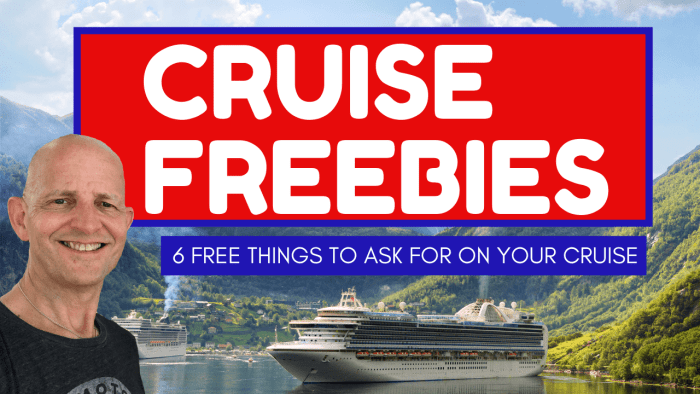 6 Cruise Freebies You Can Get If You Just Ask!