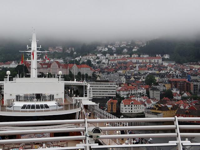 Cunard Queen Elizabeth Docked in Bergen Norway