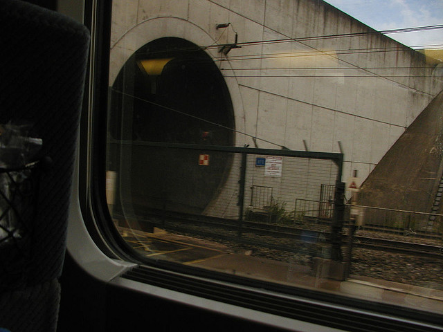 Entering Channel Tunnel