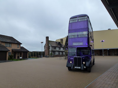 Night Bus on Backlot at Harry Potter Studio Tour Warner Bros. Leavesden