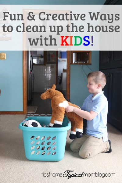 Fun & Creative Ways to Clean Up the House with Kids