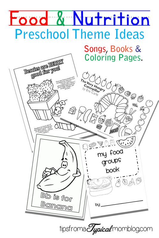 Food and nutrition theme preschool songs and printables for Healthy eating coloring pages for preschool