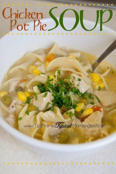 5 Ingredient Crockpot Chicken Pot Pie Soup Recipe