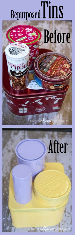 DIY Repurposed Food Tins for Home Decor. So cute! From Tips From a Typical Mom