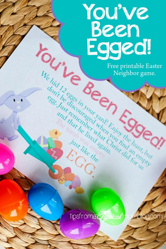 You've Been Egged Neighbor Game