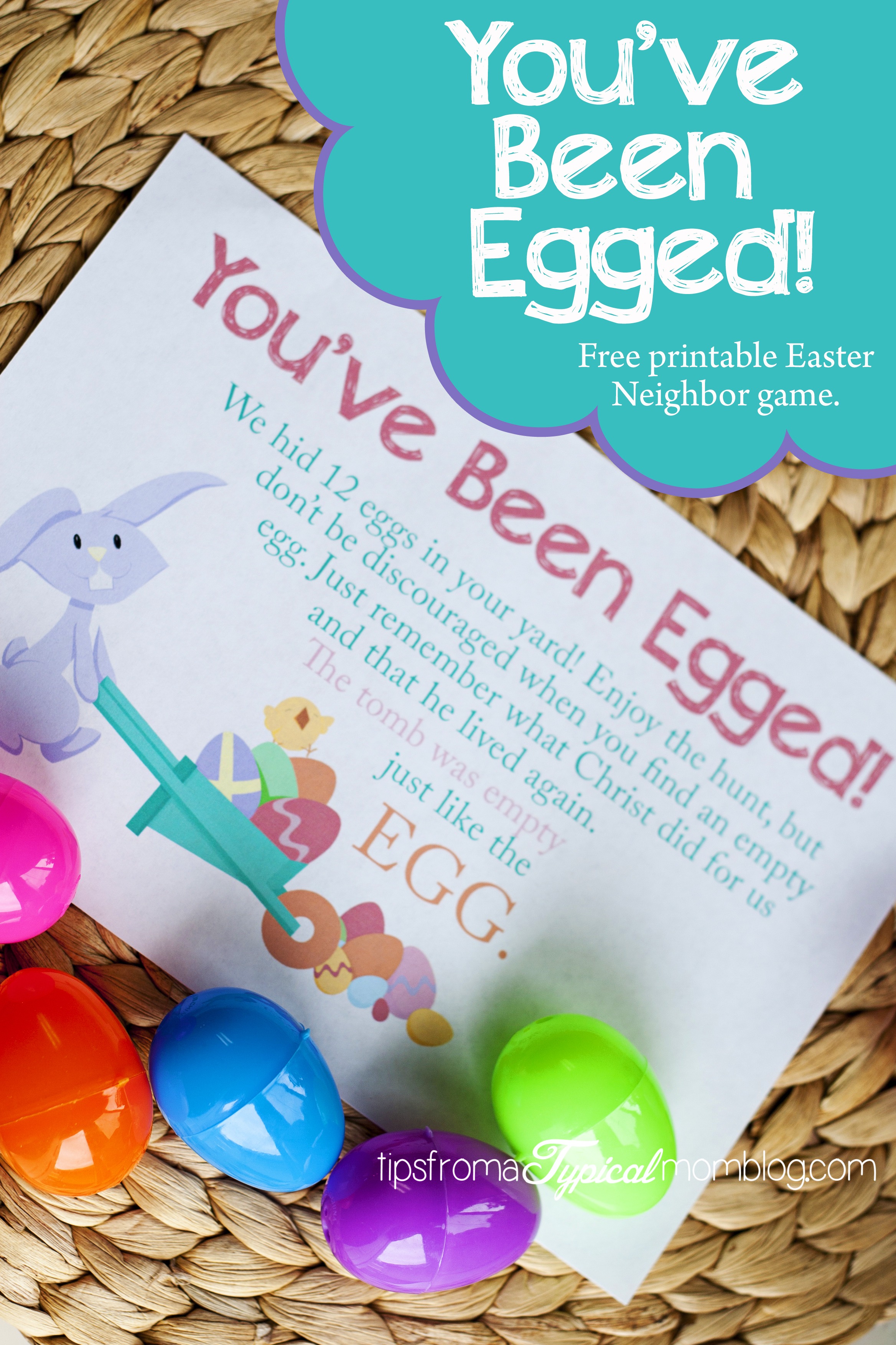 photo relating to You Ve Been Egged Printable known as Youve Been Egged- Cost-free Printable Neighbor Easter Video game