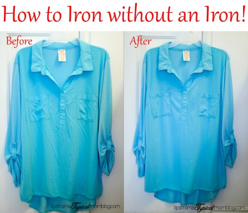 How to Iron Your Shirt Without an Iron