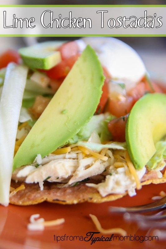 Lime Chicken Tostada's for Cinco De Mayo