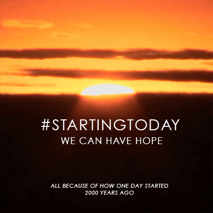 #startingtoday we can have hope. A deep look in to the Atonement and Resurrection of Christ. From Tips From a Typical Mom.