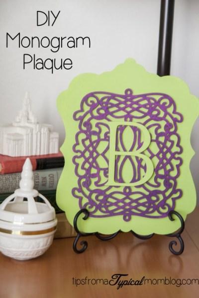 DIY Monogram Plaque for Home Decor