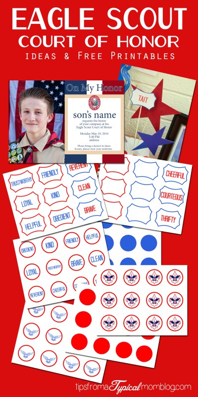 Eagle Scout Court Of Honor Ideas And Free Printables
