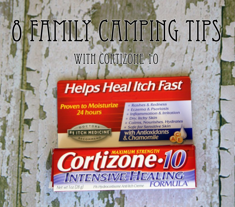 8 family camping tips with Cortizone 10