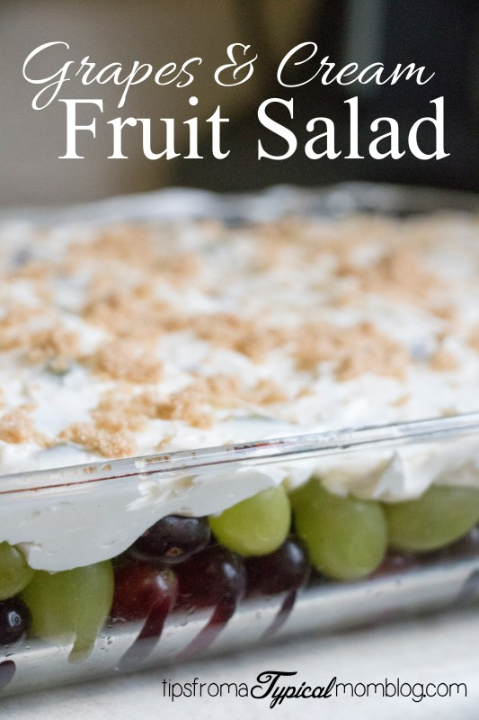 Grapes and Cream Fruit Salad