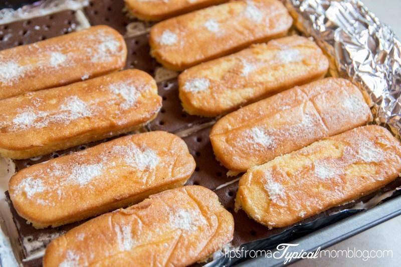 Frozen Twinkies and Ice cream Sandwich cake