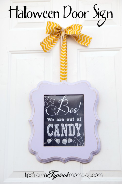 Boo We Are Out of Candy Halloween Door Sign