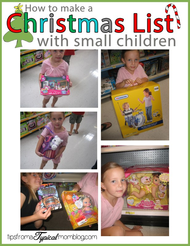 How to make a Christmas List with small children