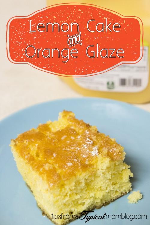 Lemon Poke Cake with Orange Glaze