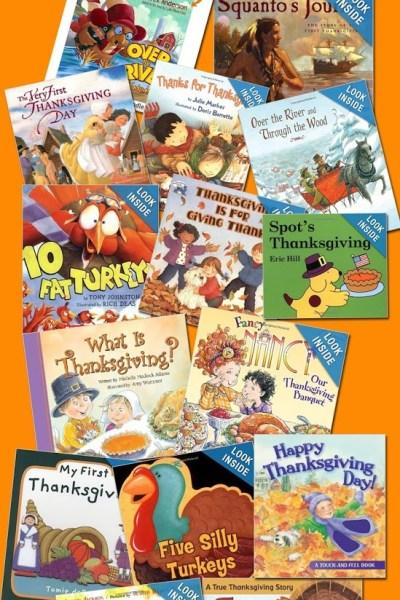 Thanksgiving Book List for Preschoolers