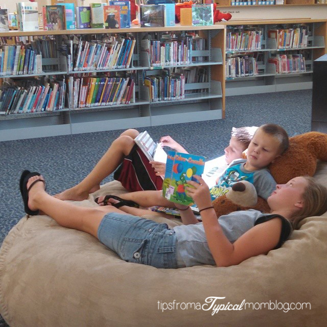 taking your  kids to the library