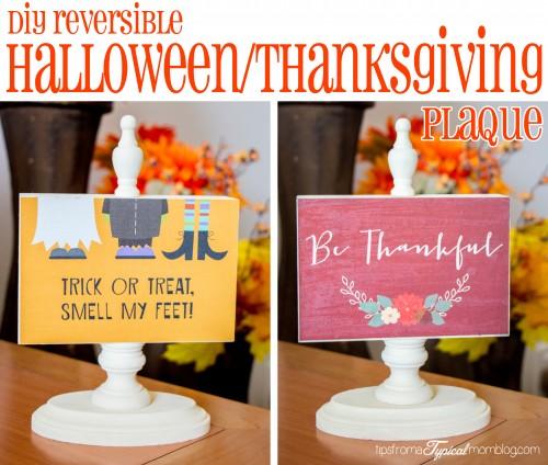 DIY Reversible Halloween/ Thanksgiving Photo Block Craft