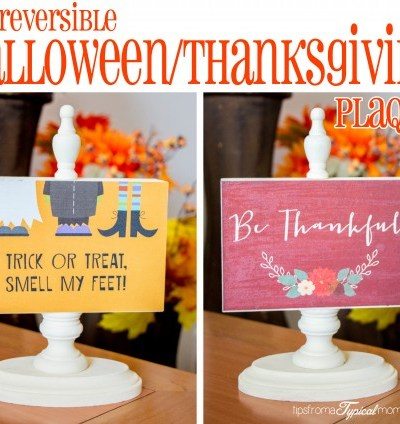 DIY Reversible Halloween/ Thanksgiving Photo Block Craft