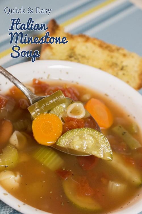 Quick & Easy Italian Minestrone Soup